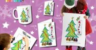 Christmas cards, gifts, tags,tea towels, bags and mugs